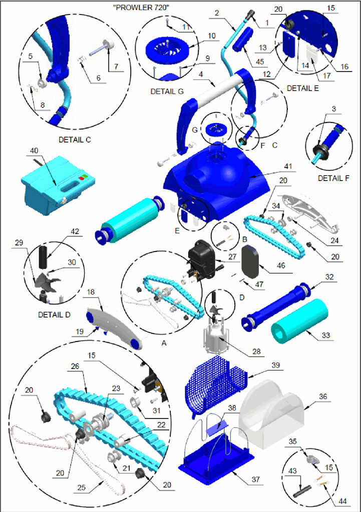 Pentair Prowler Replacement Parts